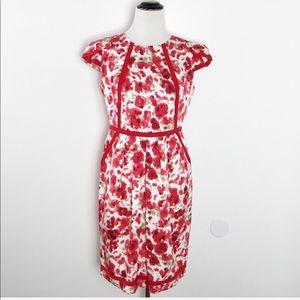 CH Carolina Herrera Floral Silk Sheath Dress